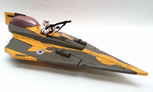 star wars clone wars anakin's jedi starfighter nave hasbro