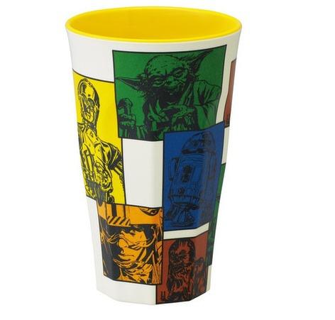 star wars colección vaso melamina amarillo
