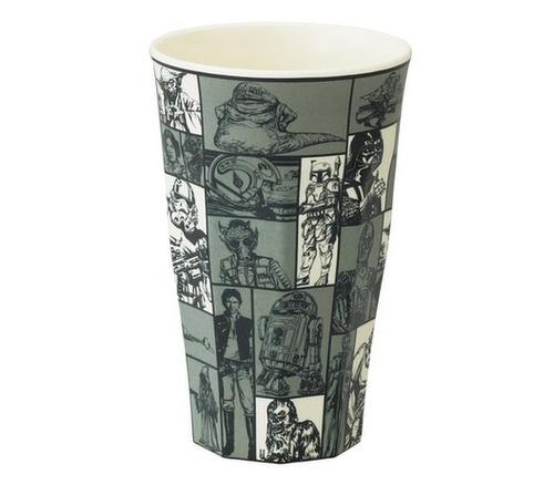 star wars colección vaso melamina gris