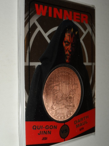 star wars darth maul medallion card