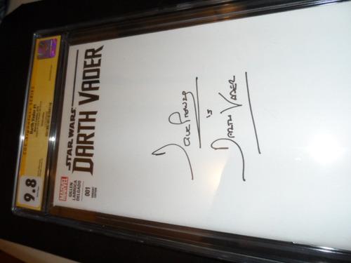 star wars darth vader comic firmado por dave prowse nuevo
