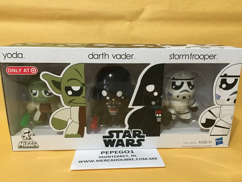 star wars darth vader yoda stormtrooper mighty muggs 15cm