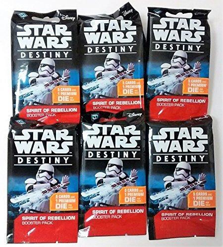 star wars destiny tcg: boosters del espiritu de rebelion - p