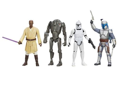 star wars digital collection 2 ataque clones set 4 bonecos