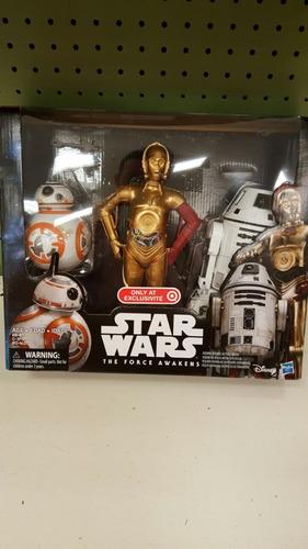 star wars  droids 3 pack exclusivo de target   bb8  c3p0