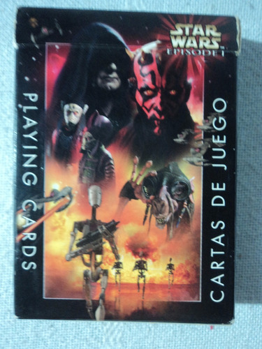 star wars episode 1 villains paquete de naipes de juego 1999