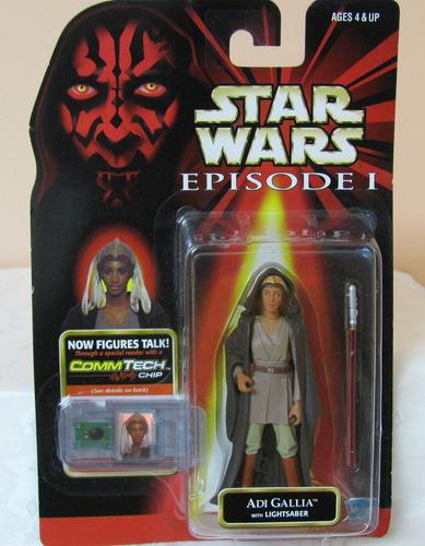 star wars episodio 1 figura de adi gallia unica!!!