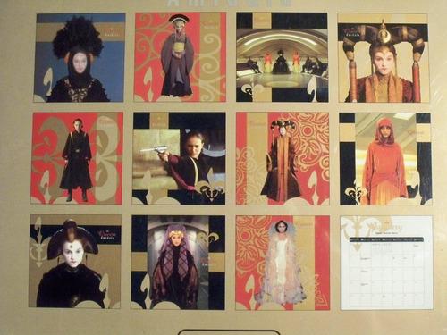 star wars episodio i calendario fotos 2000 queen amidala