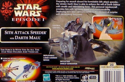 star wars episodio i sith attack speeder + darth maul