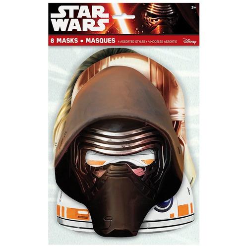 star wars episodio vii partido máscaras, 8ct