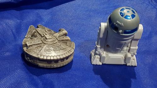 star wars - figuras falcon y r2-d2 - guerra galaxias