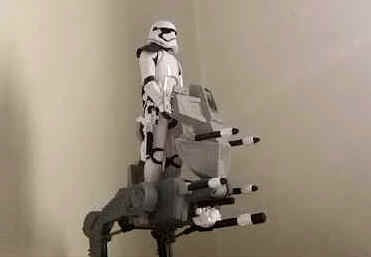star wars first order assault walker pelicula force awakens