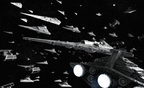star wars flota imperial tortugas ninja - cuadros personales
