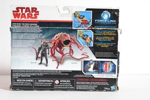 star wars force link rathtar y bala tik caja maltratada