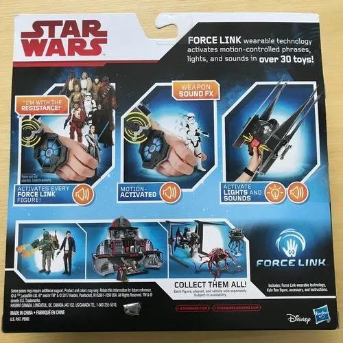 star wars force link starter set kit inicial luzes e sons