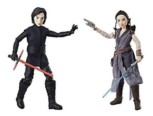 star wars forces of destiny rey de jakku y kylo ren figura p