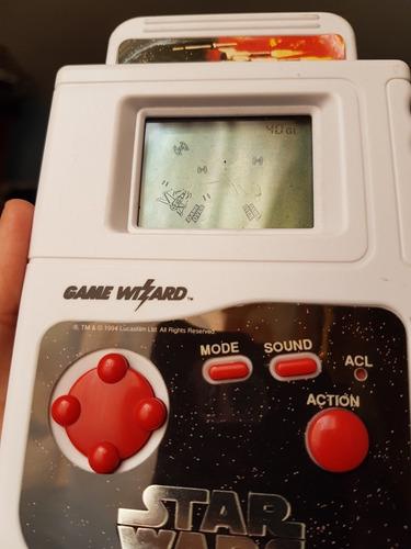 star wars game wizard 1994 (juego electrónico con cartuchos)