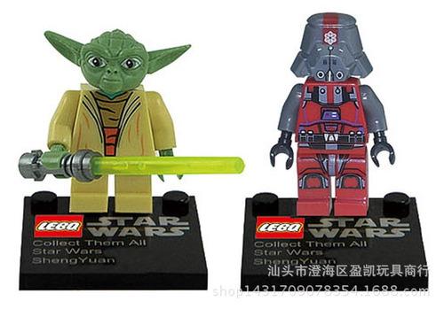 star wars green mini figuras set x 8 ud. - fair play toys