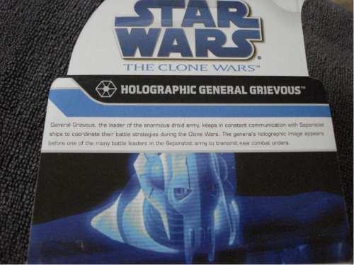 star wars / grevious holograma exclusivo toys r us