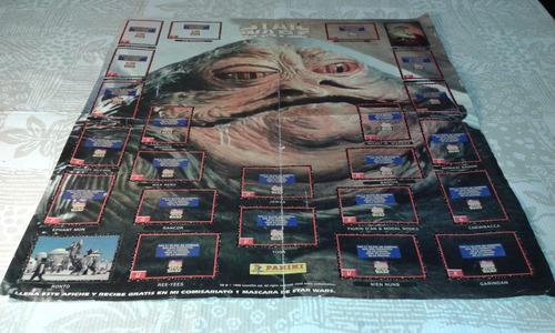 star wars - jabba poster tipo afiche o album 1996
