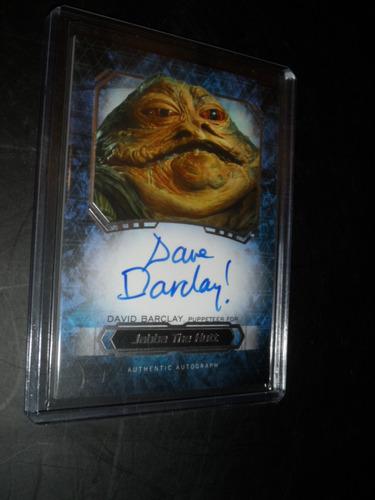 star wars jabba the hut tarjeta firmada por dave barcley