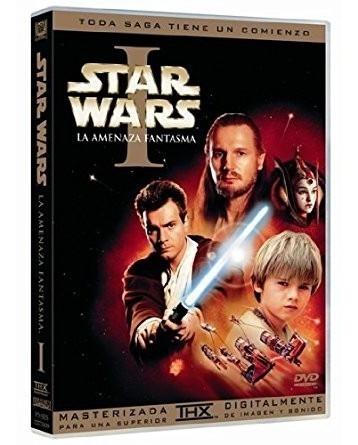 star wars la amenaza fantasma episodio 1 pelicula dvd