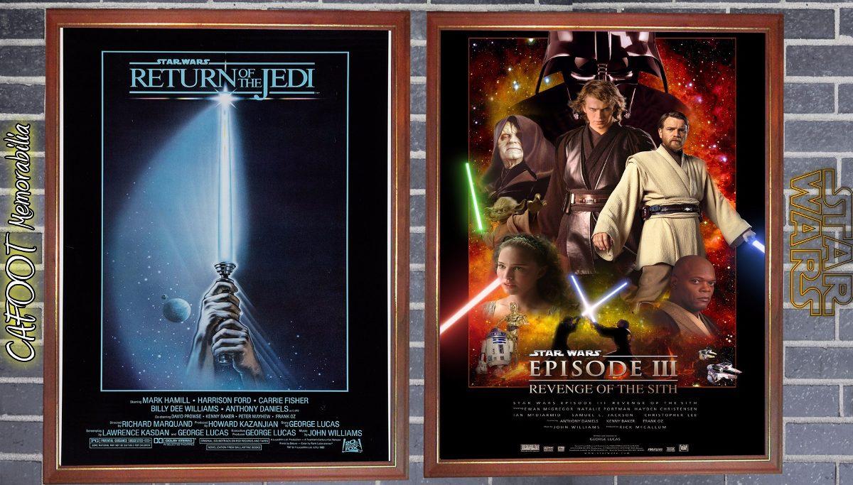 Star Wars La Guerra De Las Galaxias 8 Posters Enmarcados - $ 2.000 ...