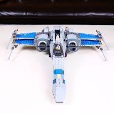 star wars lego alterno x-wing azul blue resistencia halcon