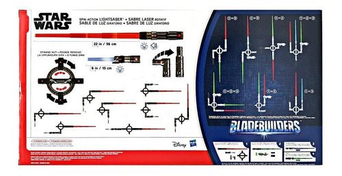 star wars lightsaber electrónico giratoria the last jedi