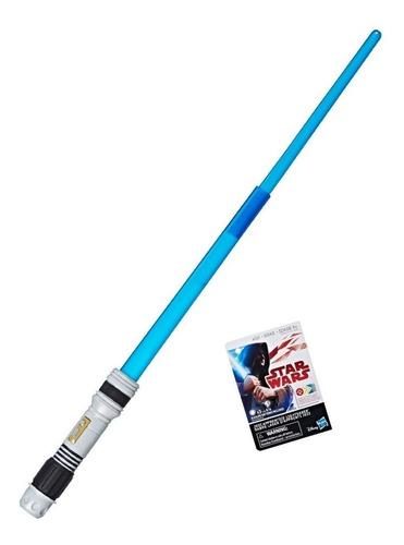 star wars lightsaber extensible con luz espada