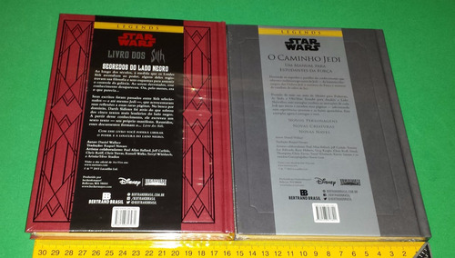 star wars livro dos sith + caminho jedi - capa dura