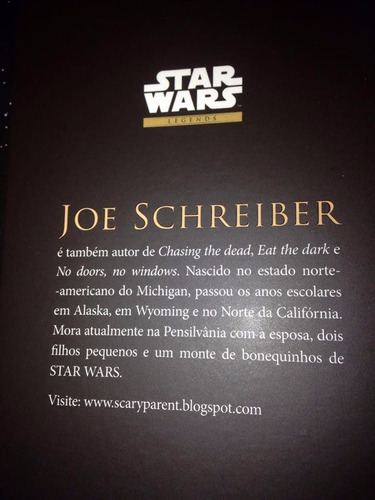 star wars livro troopers da morte legends joe schreiber r$47