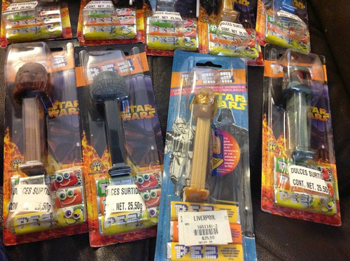star wars lote 20 piezas dispensadores dulces pez r2d2