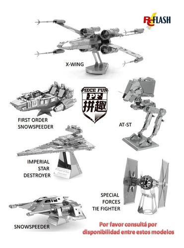 star wars maqueta 3d metálica piece fun como metal earth