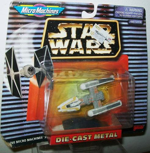 star wars micro machines die cast metal y wing unico!!