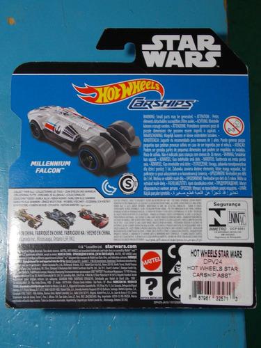 star wars millennium falcon hot wheels carships