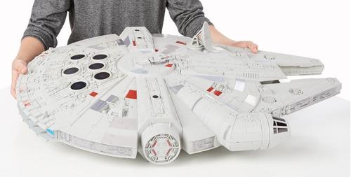 star wars millennium falcon nave force awakenes disney hasbr