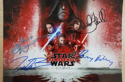 star wars poster autografado e com certificado