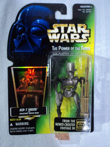 star wars power of the force asp-7 droid 1996