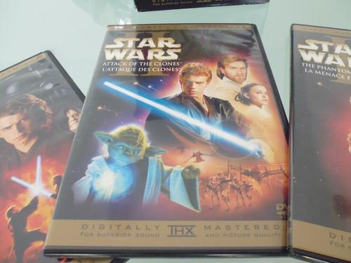 star wars / primera trilogia / box set / 6 dvd / en ingles /