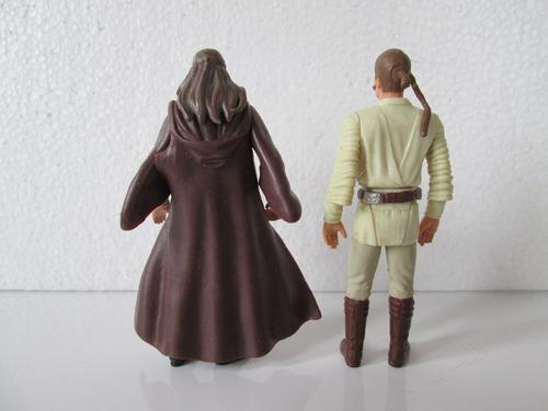 star wars qui gon jinn y obi wan kenobi buzos 10 cm.