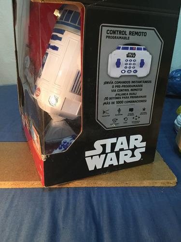 star wars r2d2 50 cm robot interactivo / remoto y proyector