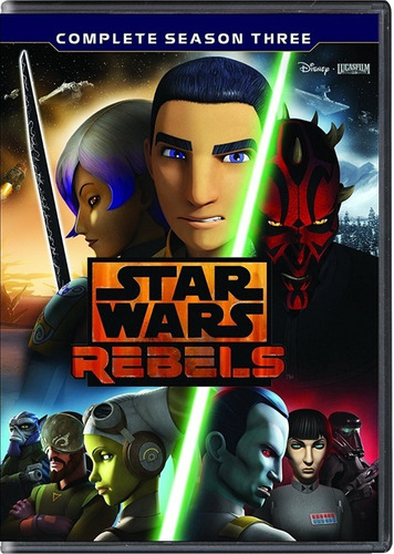 star wars rebels paquete serie completa temporadas 1 - 3 dvd