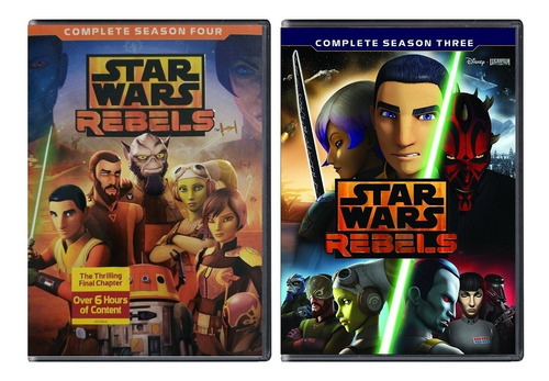 star wars rebels paquete temporada 1 2 3 4 dvd