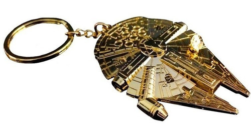 star wars replica millennium falcon golden sdcc llavero
