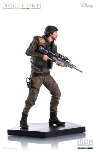star wars rogue one cassian andor 1/10 estatua - art scale