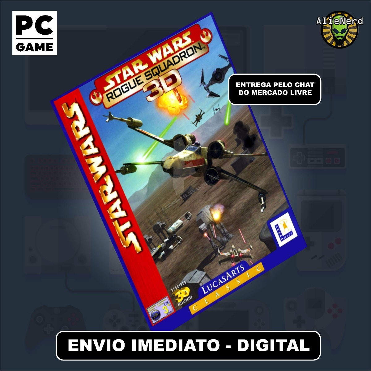 Star Wars Rogue Squadron 3d - Pc - Mídia Digital