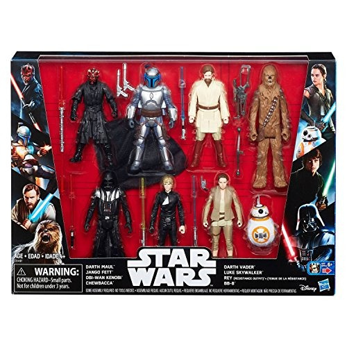 star wars saga acción figura 8 pack con darth maul