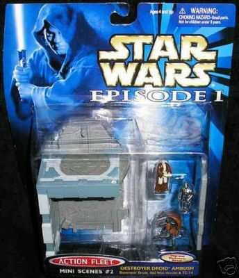 star wars saga action fleet destroyer droid ambush