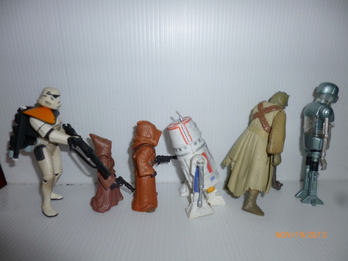 star wars set x 5 jawas r5-d4 tusken raider 2-1b medic droid